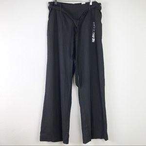 NWT Torrid Wide Leg Linen Blend High Rise Black Trouser Plus Size Pants Size 16